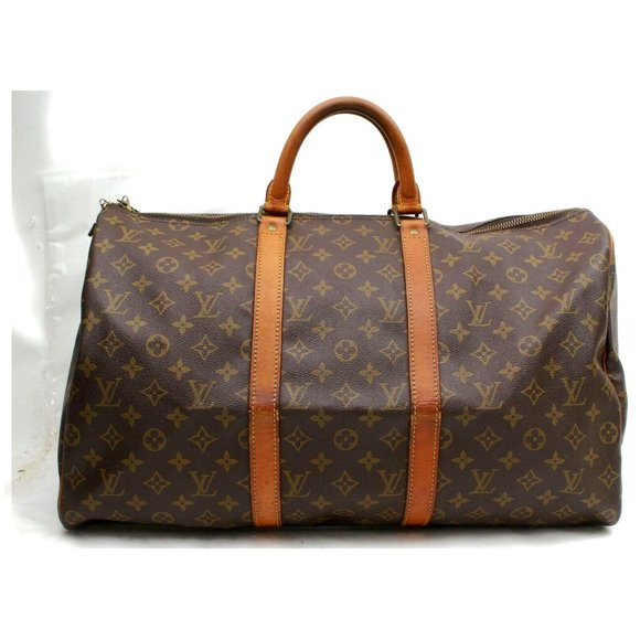 Auth Louis Vuitton Keepall 50 Travel #3014L22
